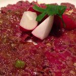 ヨシズハイ - 牛フィレ肉のカルパッチョ 和風ソースを添えて