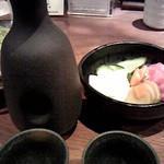 郷どり 燦鶏 - 香物&日本酒