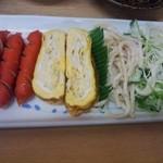 栄食堂 - ウインナと出汁巻