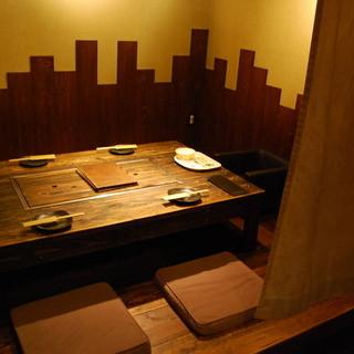掘りごたつ式座敷個室
