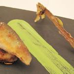 ケザコ - 子持ち鮎  青菜三種のソース