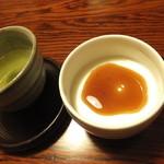 平山温泉 やまと旅館 - 温泉を使った豆乳プリン、黒蜜をかけていただきました。