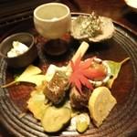 平山温泉 やまと旅館 - 前菜盛り