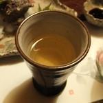平山温泉 やまと旅館 - 夕食は食前酒の梅酒からスタート。