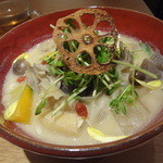 10ZEN  - 西京味噌と酒粕の根菜うどん