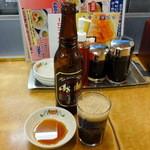 餃子の王将 - スーパードライ黒小瓶399円