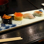 16634967 - 握り10貫+旬の巻寿司