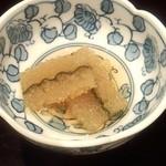 日本料理雲海 - 子持ち昆布。