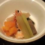 日本料理雲海 - 焚合わせの、煮物椀2。