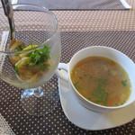 くるり - 料理写真:前菜とスープ