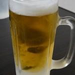 居酒屋たちばな - 生ビールで乾杯! ※2012年12月
