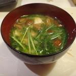 紋寿司 - 味噌汁