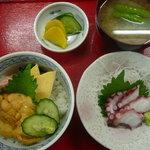 みなと食堂 - ウニ丼のプレート