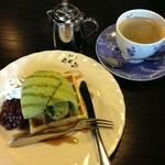 16644802 - 抹茶わっふる&コーヒー