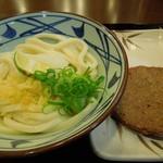 丸亀製麺 - (2012/11月)「(温)おろし醤油(並)」と「じゃこ天」