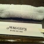 マギーズ - おしぼり有り・白布