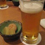 豚菜健美 とこ豚 - 生ビール&お通し