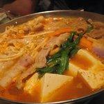 豚菜健美 とこ豚 - 豚バラとモツの辛味鍋  AFTER