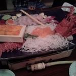 木曽谷 - 料理写真:豪華な刺身盛り