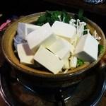 つま亀 - 湯豆腐