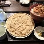 蕎麦の三心 - ランチ(かきの天丼と蕎麦)