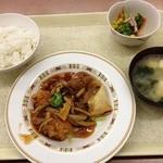 尼崎市役所 職員食堂 - 酢鶏
