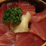 木々亭 - 「セット」のマグロ丼アップ