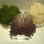 アンジェリック・ドーワ - 料理写真:季節のケーキ(抹茶、モンブラン、紫芋)