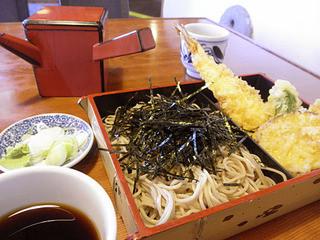 雀のお宿 - 天ざる(1600円)