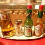 アキッチョ - オリーブオイル、タバスコ、ハラペーニョ・ソース