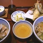 16663806 - 鯛の炙り漬け丼天茶定食 ¥1325