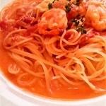 ベリッシモ - 海老とツナのトマトクリームパスタ