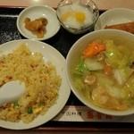 盛香園 - 海老タンメン&炒飯セット 900円
