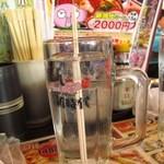 伝説の串 新時代 - お水はジョッキでドーン!と