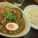 ベジスパ - 丸腸カレーのセット\1350。ご飯は玄米を選択