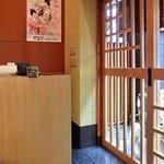 沙伽羅 - 店内の入口の風景です