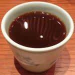 沙伽羅 - 三色もり 1260円 の蕎麦湯割り