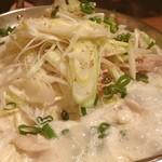 エベレストMOMO - 豚白菜豆乳鍋。ゴボウが入ってるのが嬉しい!