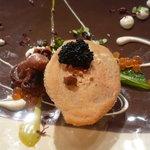 レストラン デビッド・セニア - ☆たっぷりキャビアをのせてくれましたぁ(^o^)丿蛸もぷりっと茹で立てほやほや☆