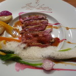 レストラン デビッド・セニア - ☆鴨のメインのお料理は…コアントローのオレンジ風味のソース☆