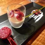 レストラン デビッド・セニア - ☆ブラマンジェは可愛く3点盛り(^v^)☆