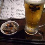 Ohako - お通しとビール