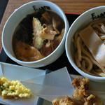 肉汁うどん長嶋屋 - 肉汁うどん¥700+ちくわ天¥80+かしわ天¥150