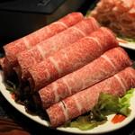 シャングリラ - 2012.12 冷凍の霜降り牛肉が積み上がっています