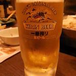 鍋ぞう 川崎 - 生ビール中ジョッキ