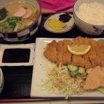 めん処 喜多野 - とんかつ定食  1,000円