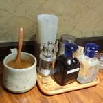 かぼす - 調味料とガムシロ