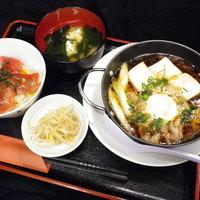 のんしゃらん食堂 - あつあつ肉豆腐&ミニまぐろ丼セット