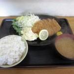 男の厨房 - とんかつ定食¥950