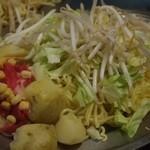 鈴屋 - 料理写真:ポテト入り焼そば 材料